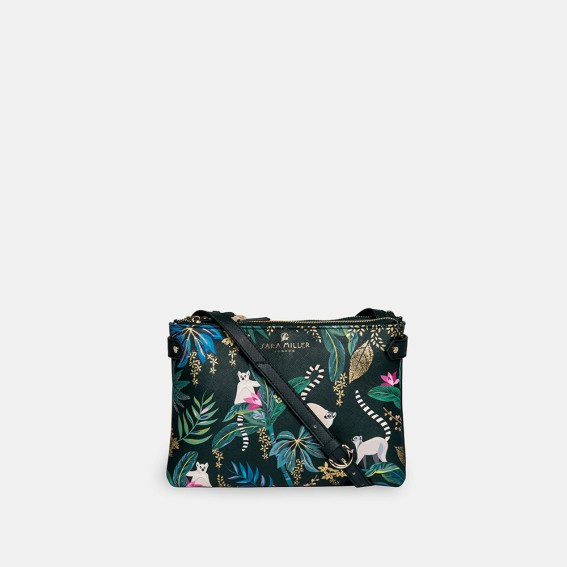 Lemur Zip Top Crossbody Bag