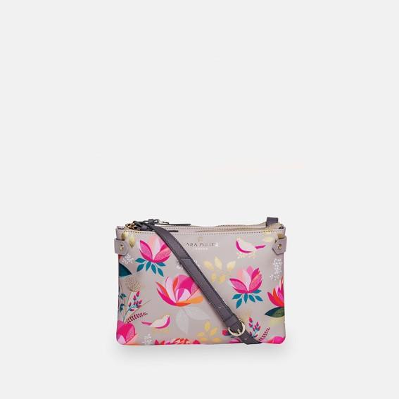 Peony Zip Top Crossbody Bag