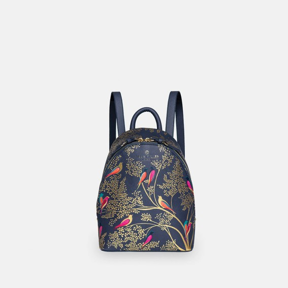 Smokey Blue Birds Mini Backpack