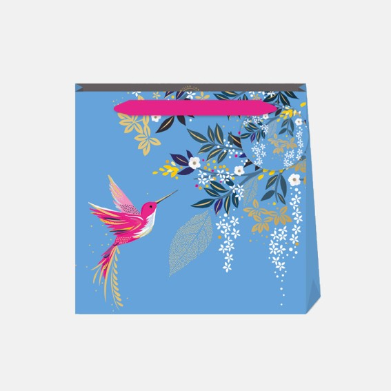 Light Blue Hummingbird Small Gift Bag