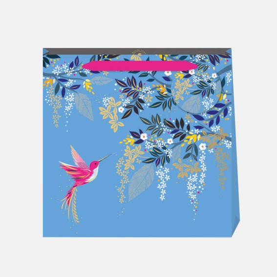 Blue Hummingbird Medium Gift Bag