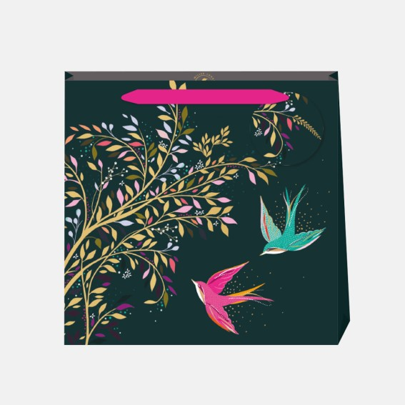Green Hummingbird Medium Gift Bag