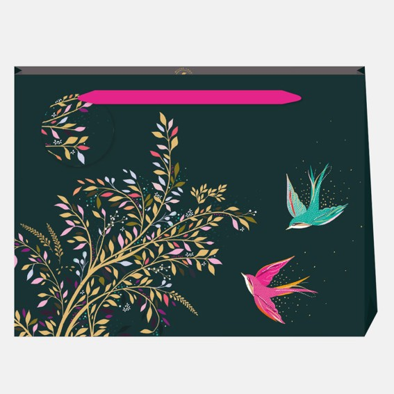 Green Hummingbird Large Gift Bag