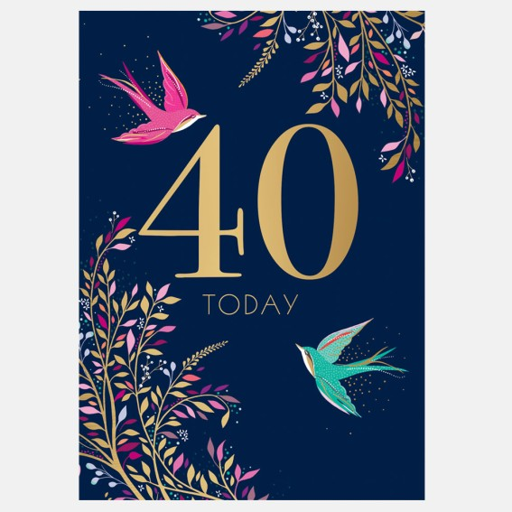 Soaring Swallows 40th Birthday Card