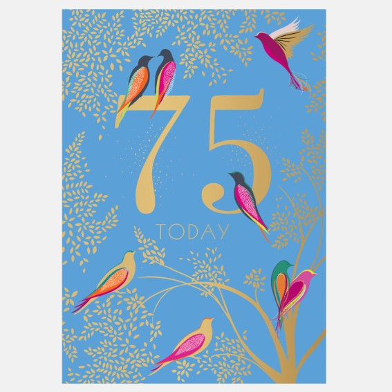 Birds 75th Birthday Card