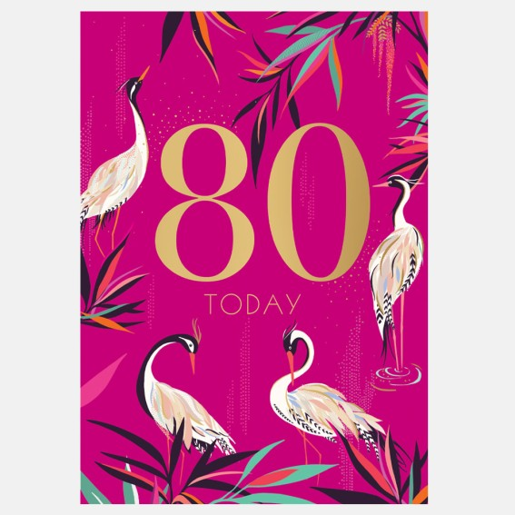 Herons 80th Birthday Card