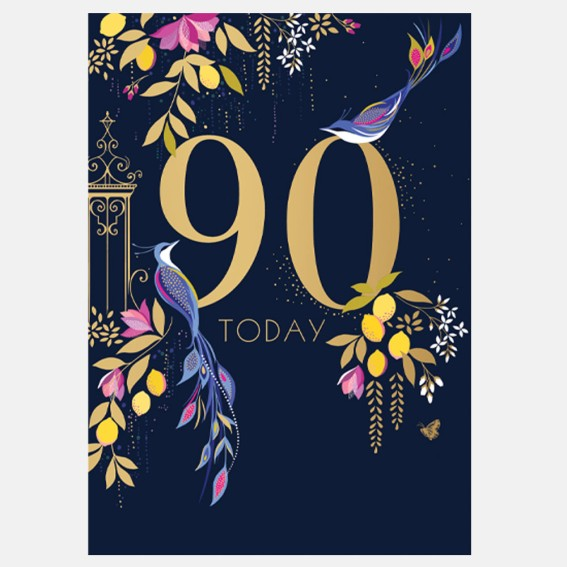 Birds 90th Birthday Card