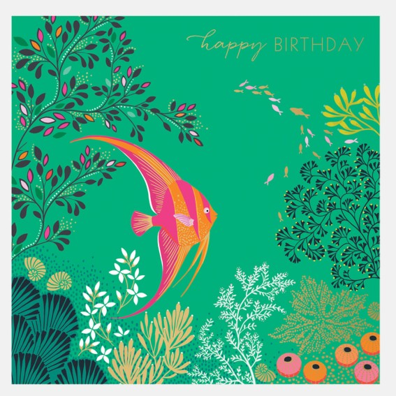 Angel Fish Birthday Card