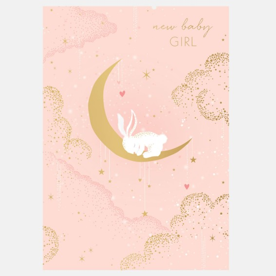 Bunny Baby Girl Card