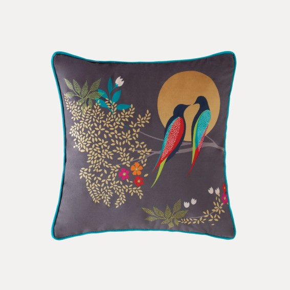 Birds at Dusk Feather Filled Cushion