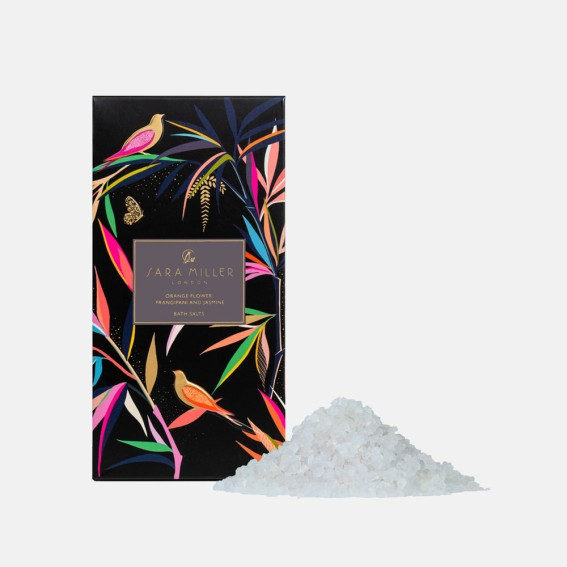 Orange Flower, Frangipani & Jasmine Black Bamboo Bath Salts