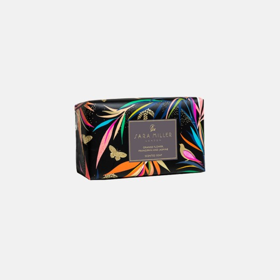 Orange Flower, Frangipani & Jasmine Black Bamboo Scented Soap
