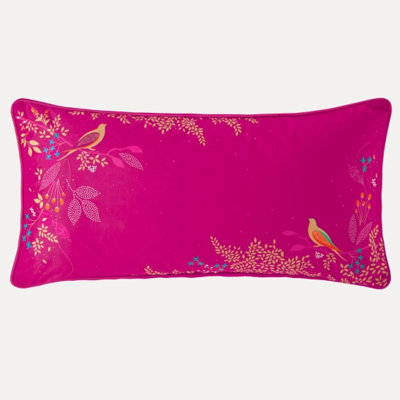 Pink Birds Feather Filled Cushion