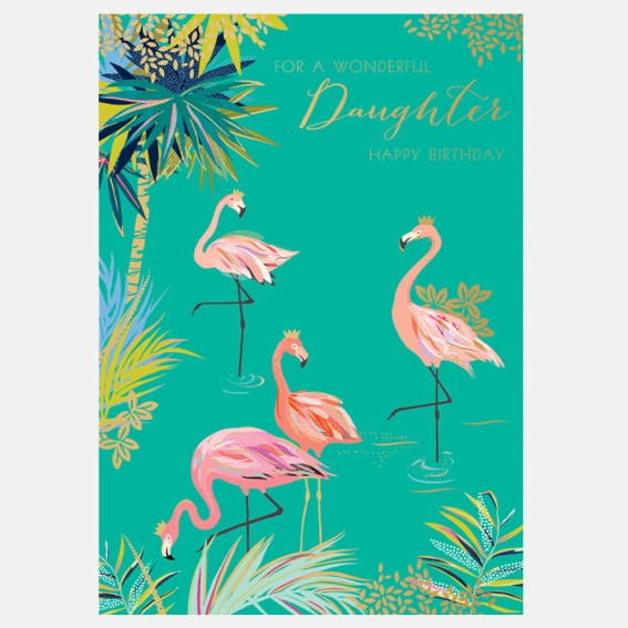 Flamingo Daughter Birthday Card