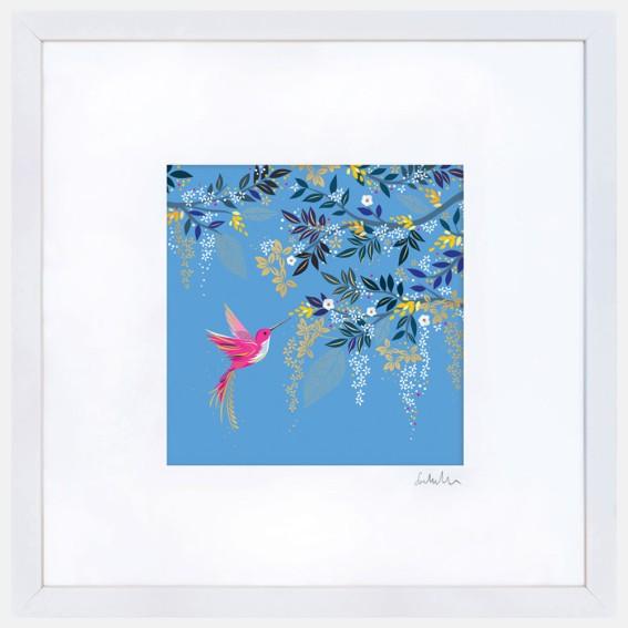 Light Blue Hummingbird Large Wall Art