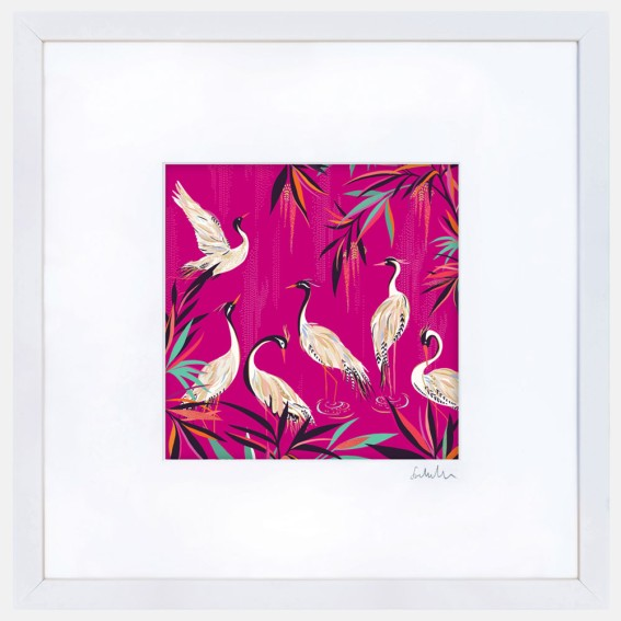 Pink Herons Large Wall Art