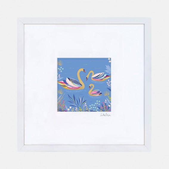 Light Blue Swans Wall Art