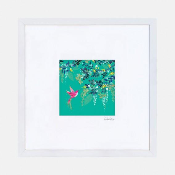Green Hummingbird Wall Art