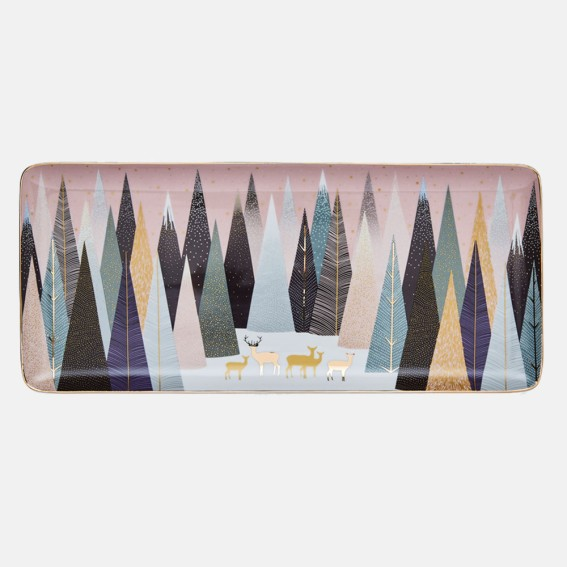 Frosted Pines Deer Sandwich Tray