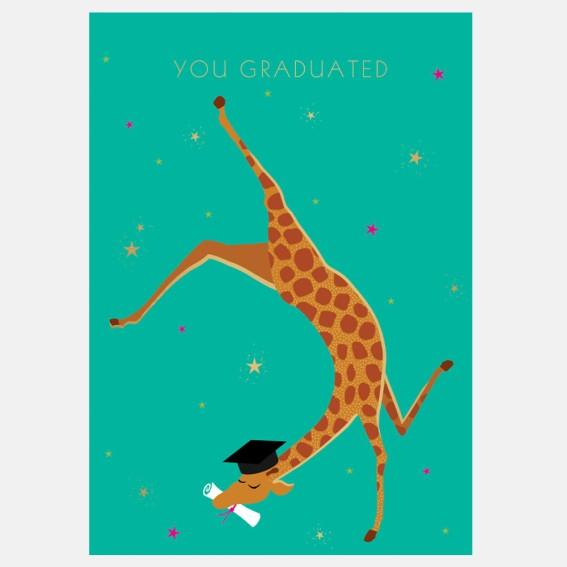 Gleeful Giraffe Graduation Card