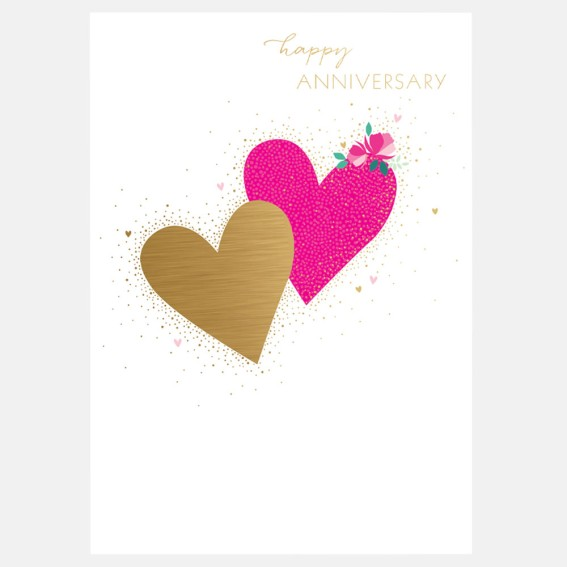 Flower-tipped Heart Anniversary Card