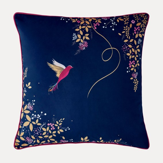 Hummingbird Feather Filled Cushion