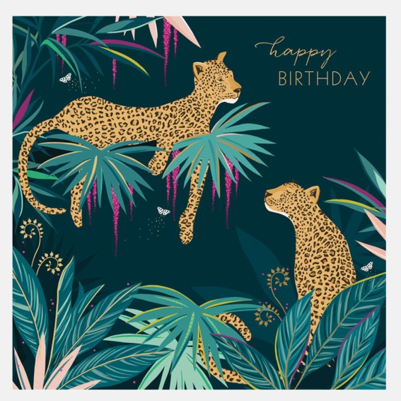 Cheetahs Birthday Card