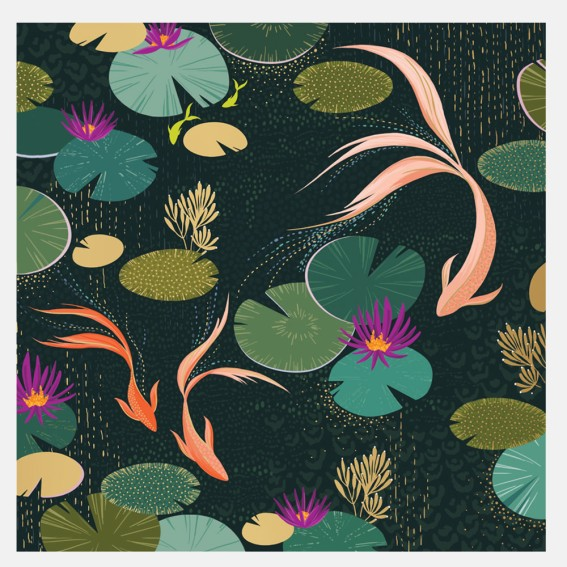 Lotus Pond Card