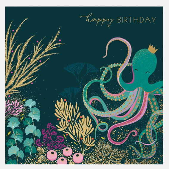 Octopus Garden Birthday Card
