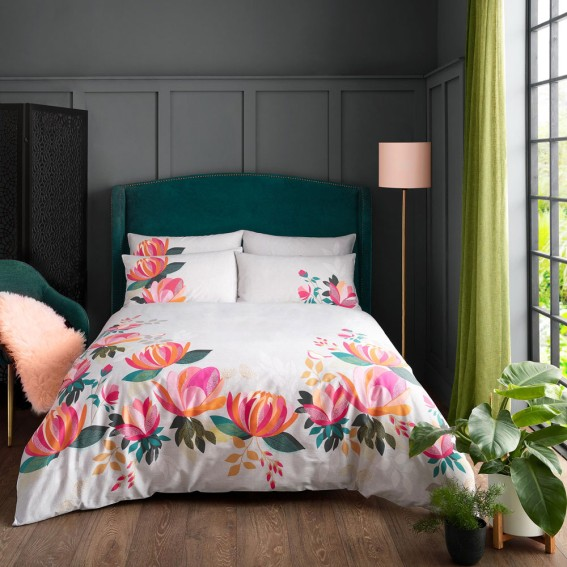 Peony Double Duvet Cover and Pillowcase Set