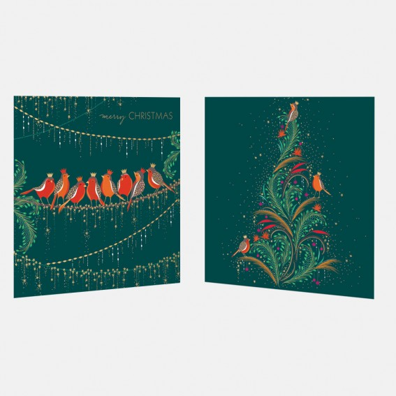 Robins Christmas Cards - Assorted Set of 10