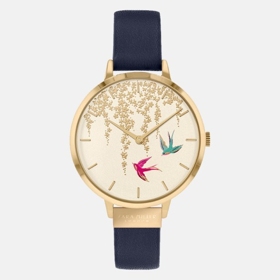 Swallow Gold Navy Watch