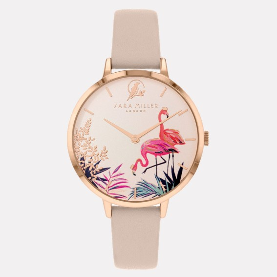 Flamingo Rose Gold Nude Watch