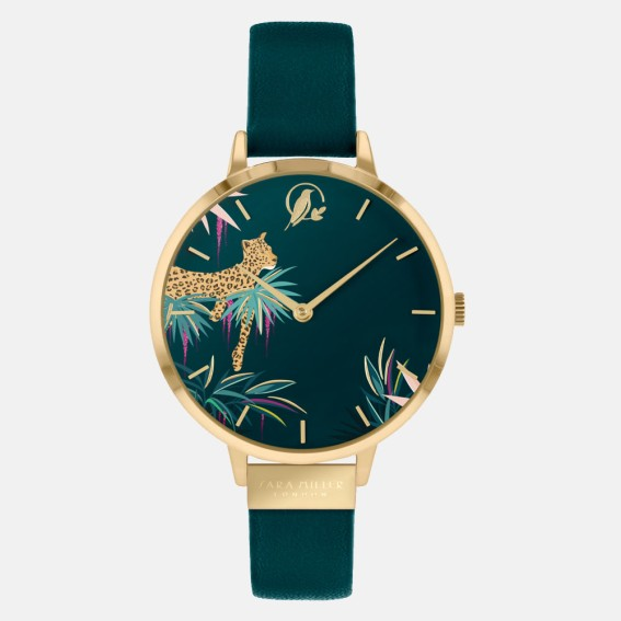 Forest Green Leopard Watch