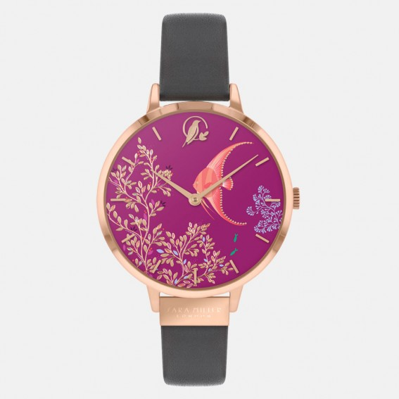 Angel Fish Rose Gold Dark Grey Watch
