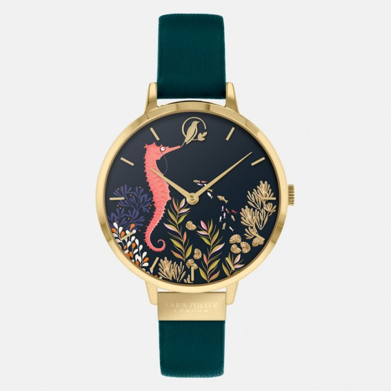 Seahorse Gold Dark Green Watch