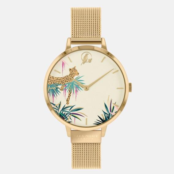 Leopard Gold Mesh Watch