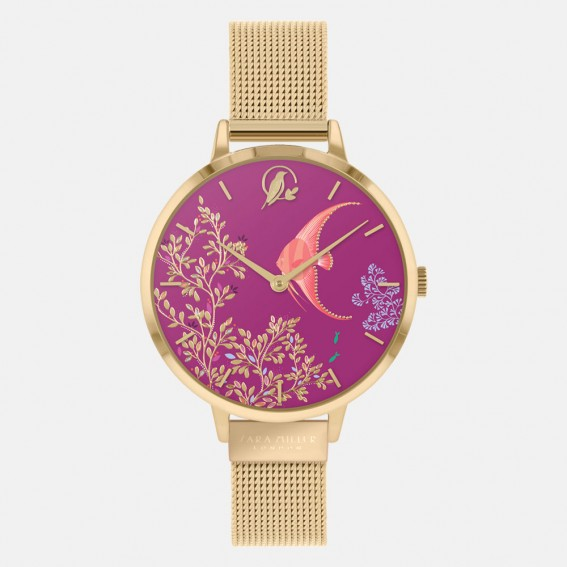 Angel Fish Gold Mesh Watch