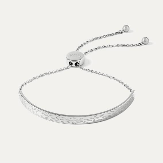 Silver Leaf Pulley Bracelet