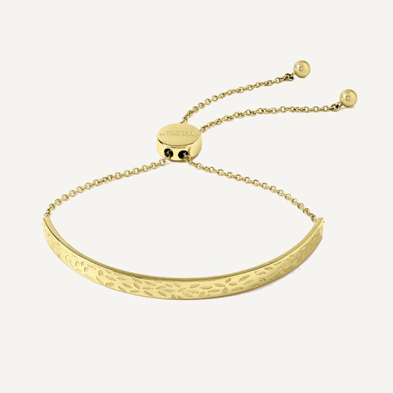 Gold Leaf Pulley Bracelet