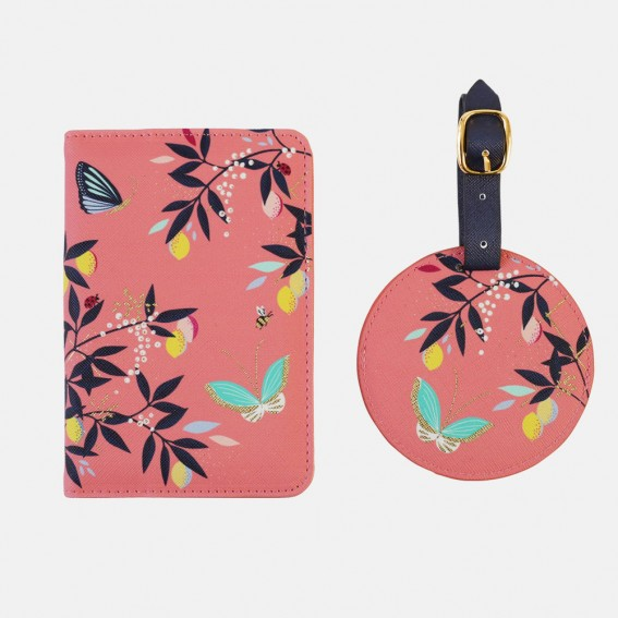 Coral Orchard Butterfly Travel Set