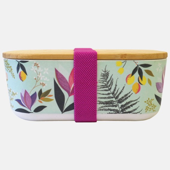 Duck Egg Orchard Floral Bamboo Lunch Box