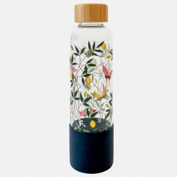 Orchard Butterfly Glass Water Bottle