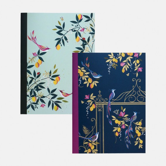 Orchard Birds A5 Notebooks - Set of 2