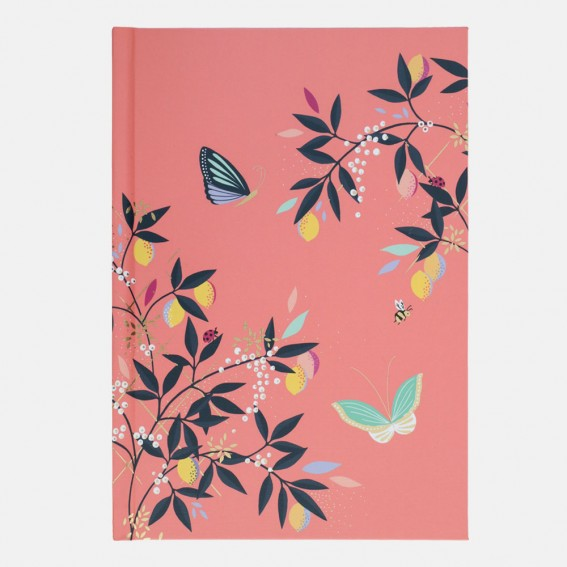 Coral Citrus Butterfly Contacts Book