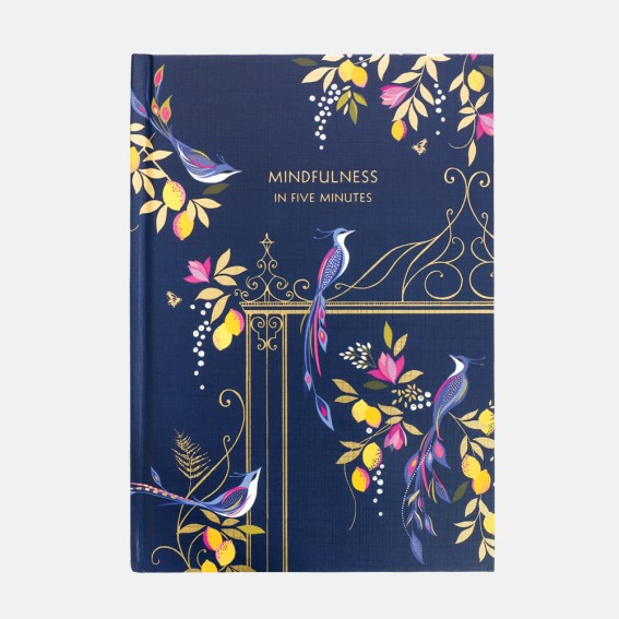 Navy Orchard Birds Mindfulness Journal