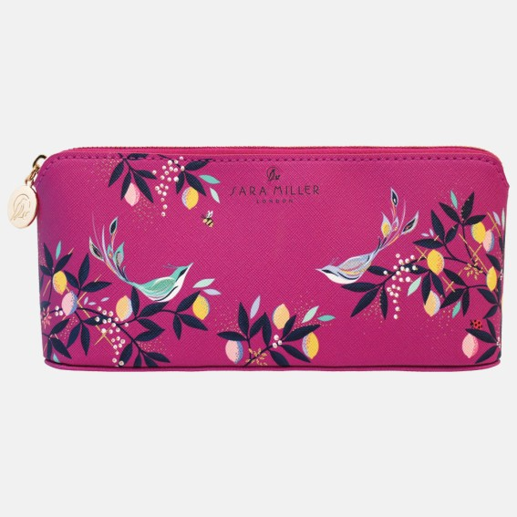 Mauve Orchard Birds Large Pencil Case