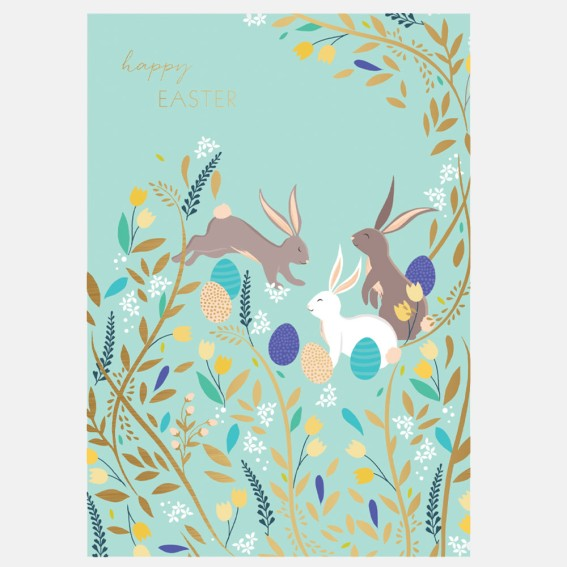 Happy Bunnies Easter Card