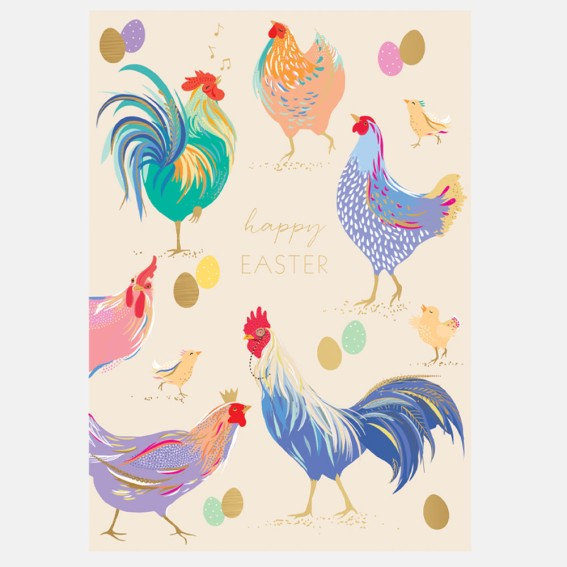 Cheerful Chickens Easter Card
