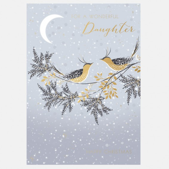Snow Birds Daughter Christmas Card
